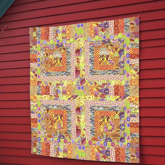 YELLOW MOSAIC Quilt kit w/BACKING   - Kaffe Fassett Collective - Please Read Description
