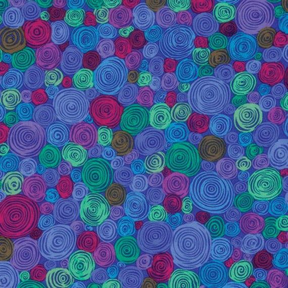 ROLLED PAPER BLUE pwgp158 Kaffe Fassett - Sold in 1/2 yd increments - Multiples cut as one length