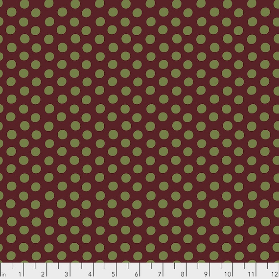 Pre-Order Item - Read Info! SPOTS BURGUNDY GP70 Kaffe Fassett Collective - 1/2 yard - Multiples cut as one length