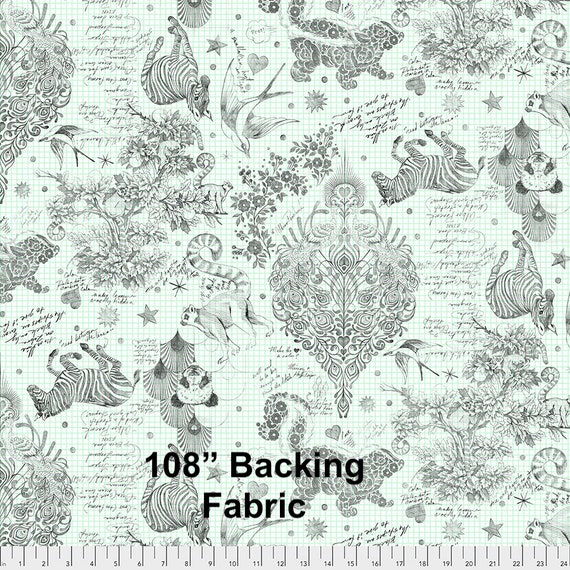 """108"""" SKETCHYER - Linework - Tula Pink  Sold in 1/2 yd increments QBTP005.paper"""