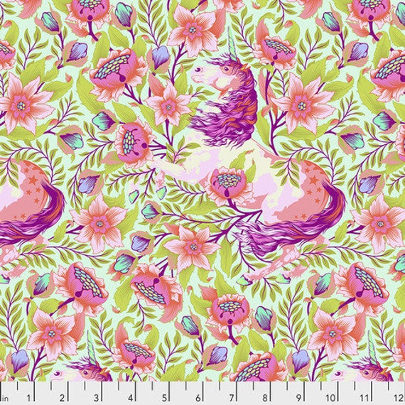 IMAGINARIUM COTTON CANDY Pinkerville  by Tula Pink - Sold in 1/2 yard units - Multiple units cut as one length