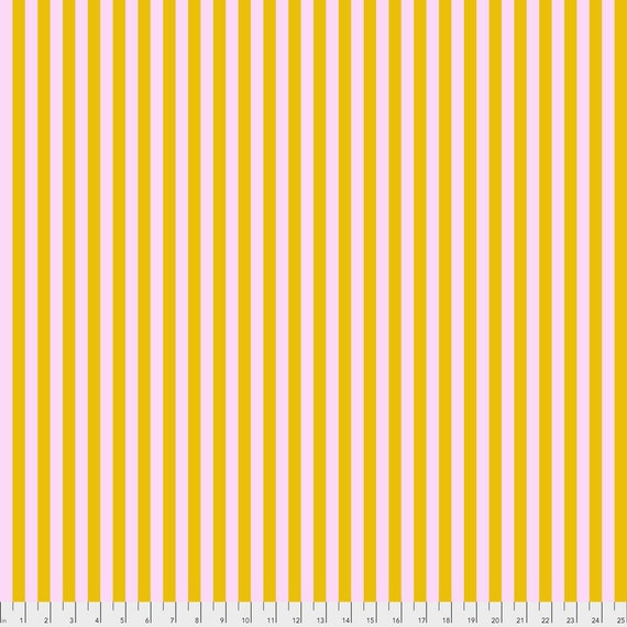 1/2 yd TENT STRIPES Marigold Tula Pink Multiple units cut as one length