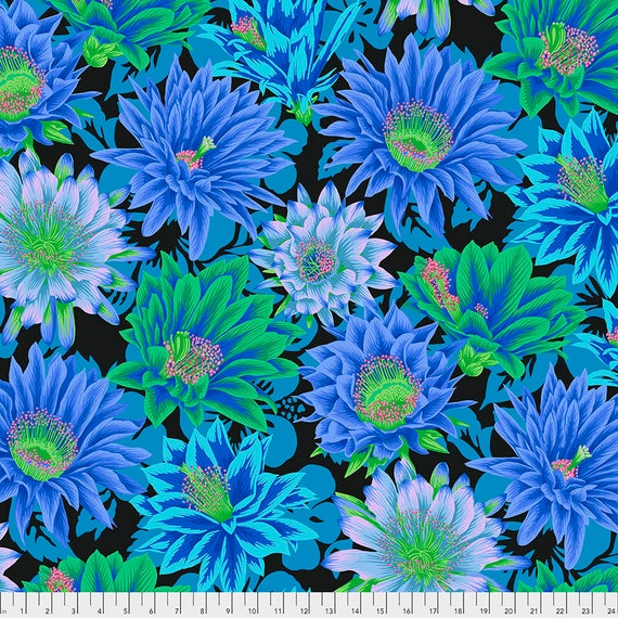FEBRUARY 2021 Pre-Order - Read Description! CACTUS FLOWER Cool pwpj096 Philip Jacobs Kaffe Fassett Collective Sold in 1/2 yd increments