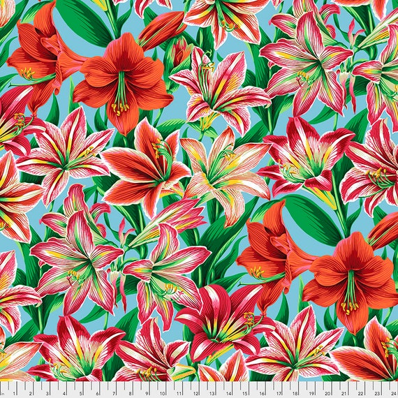 Separate Order!! AMARYLLIS NATURAL Philip Jacobs PWPJ104 - Kaffe Fassett Collective - Sold in 1/2 yd units - Multiples cut one length