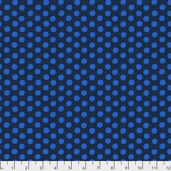 1/2 yd SPOT INDIGO Blue GP70 Kaffe Fassett Collective - Sold in 1/2 yd increments - Multiple units cut as one length