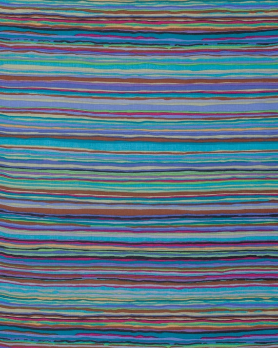 STRATA WINTER Blue  Kaffe Fassett  Sold in 1/2 yd increments  - Multiples cut as one length