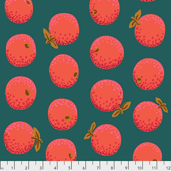 1/2 yd ORANGES RED PWGP177  Kaffe Fassett - Sold in 1/2 yd increments - Multiple units cut as one length