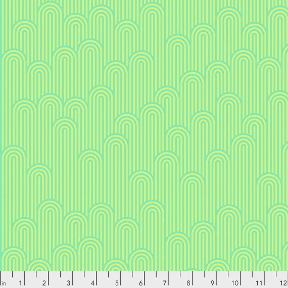 1/2 yd TOWER 7 Sea Glass Green ZUMA Tula Pink - Multiple units cut as one length