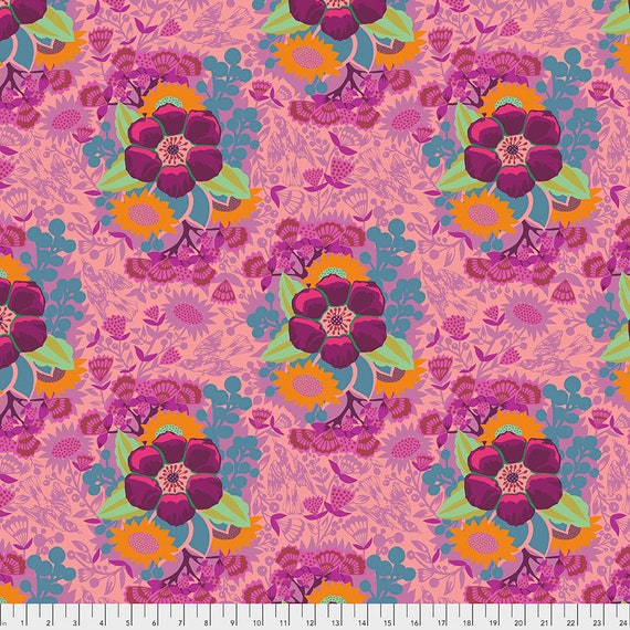 PIECEWORK ROSE - Anna Maria Horner - Sold in 1/2 yd increments  - Multiples cut as one length  - USA based retailer