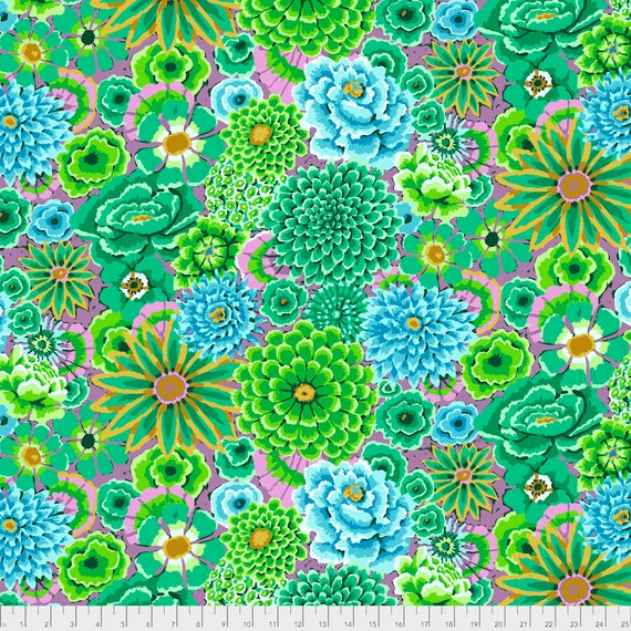 ENCHANTED GREEN Kaffe Fassett PWGP172 Sold in 1/2 yd increments