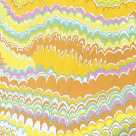 END PAPER YELLOW Kaffe Fassett  1/2 yd - Multiples cut continuously - Multiples cut as one length