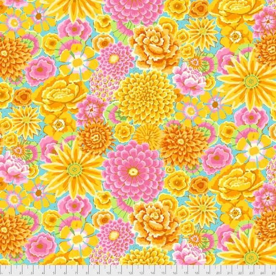 Pre-Order Item -ENCHANTED YELLOW Kaffe Fassett PWGP172 Sold in 1/2 yd increments