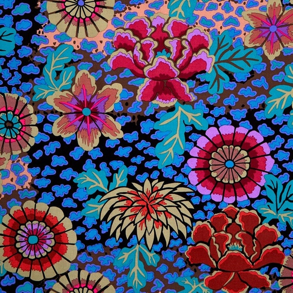 DREAM DARK GP148  Kaffe Fassett  Sold in 1/2 yd units - Multiples cut as one length  - USA based retailer