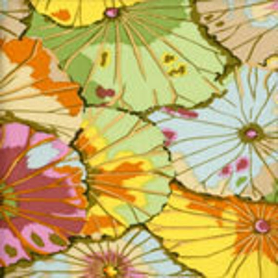 LOTUS LEAF Jade GP29 Kaffe Fassett fabric sold in 1/2 yd increments