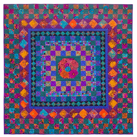 AUTUMN CHECKERBOARD Quilt Fabric Pack  - Free US Shipping - Quilts In The Cotswolds  -  Kaffe Fassett Collective