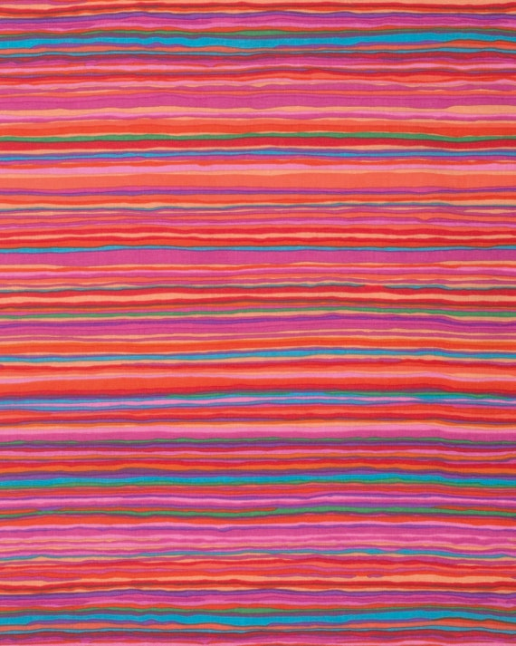 STRATA RED Kaffe Fassett - Sold in 1/2 yd units  - USA based retailer