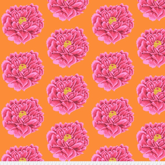 "FULL BLOWN 108"" WIDE Backing Fabric Pink Kaffe Fassett  Sold in 1/2 yd increments QBGP004.2PINK"