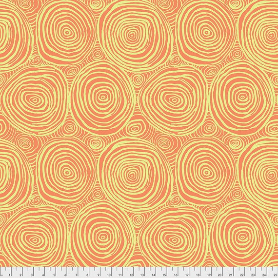 ONION RINGS MELON pwbm70 Brandon Mably Kaffe Fassett Collective -  1/2 yd - Multiples cut continuously - Multiples cut in one length