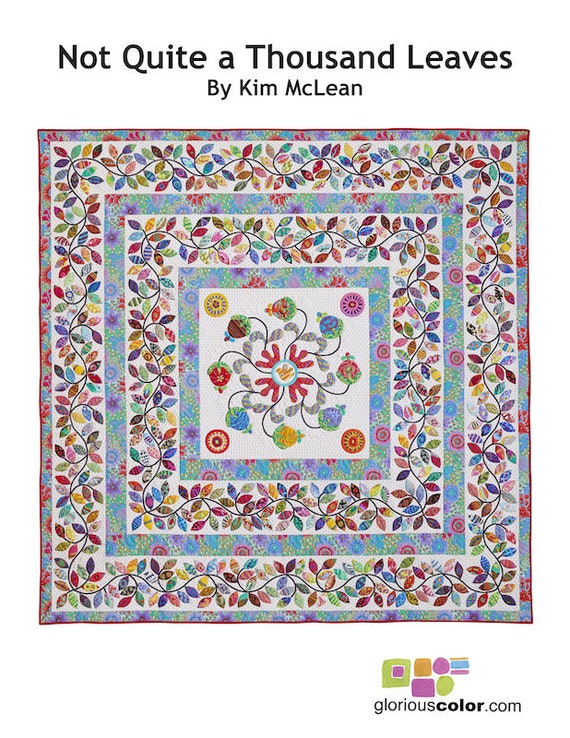"BACKGROUND & BORDER Fabric Pack for Not Quite A Thousand Leaves 92"" x 92""  - Kim McLean Applique Pattern"