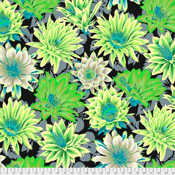 Preorder! FEBRUARY 2021 Read Description! CACTUS FLOWER Contrast pwpj096 Philip Jacobs Kaffe Fassett Collective Sold in 1/2 yd increments