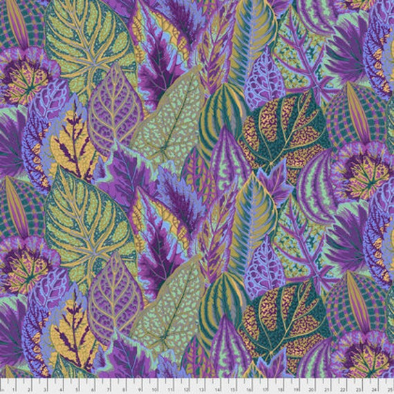 COLEUS LAVENDER PWPJ030 Philip Jacobs Kaffe Fassett Collectives Sold in 1/2 yd increments