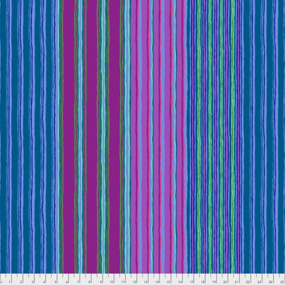 REGIMENTAL STRIPE BLUE PWGP163 Kaffe Fassett Sold in 1/2 yd increments