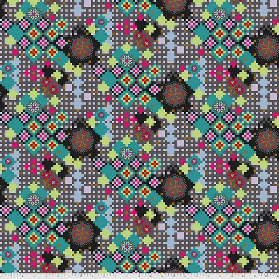 1/2 yd POSTAGE DUE KALEIDOSCOPE PWAH068.Kaleidoscope Love Always Anna Maria Horner - Sold in 1/2 yard  Multiples cut one length