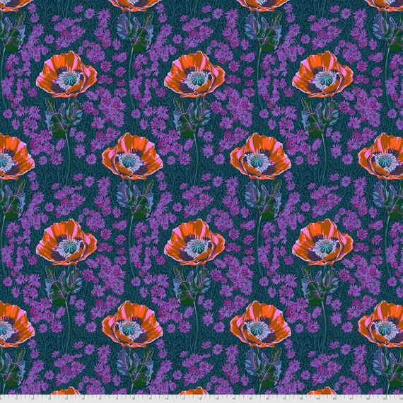 1/2 yd BOSSY MINI Evening Purple - PWAH151.EVENING Bright Eyes by Anna Maria Horner - Sold in 1/2 yd units - Multiples cut as one length