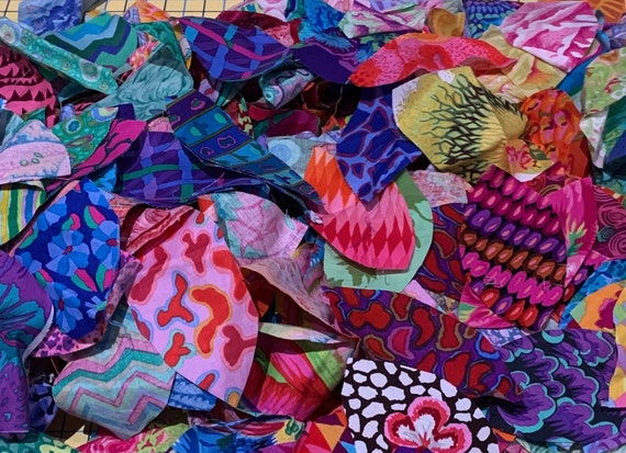 Large Starter FABRIC Pack for LEAVES  for Flower Basket Medallion  or  Not Quite a Thousand Leaves patterns by Kim McLean
