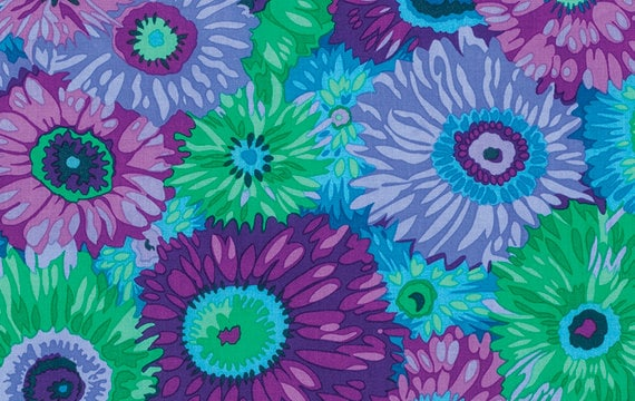 ZANY PURPLE PJ079 by Philip Jacobs for Kaffe Fassett Collective Sold in 1/2 yd increments