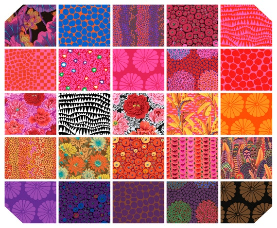 "HOT February 2021 Collection 2 1/2"" Design Roll Jelly Roll - Kaffe Fassett Collective   - Brand New Designs and Color Ways"