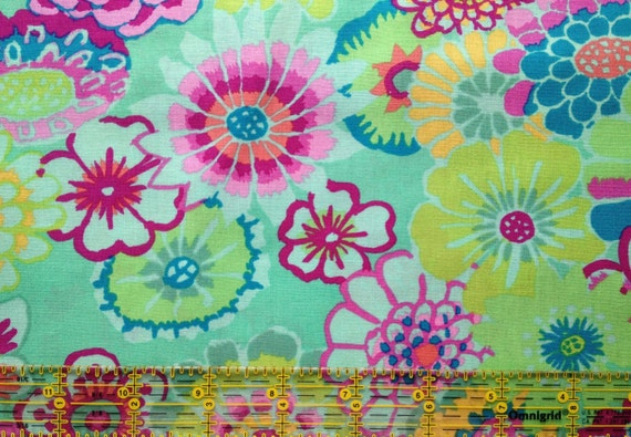 ASIAN CIRCLES Green GP089 Kaffe Fassett Collectives Sold in 1/2 yd increments