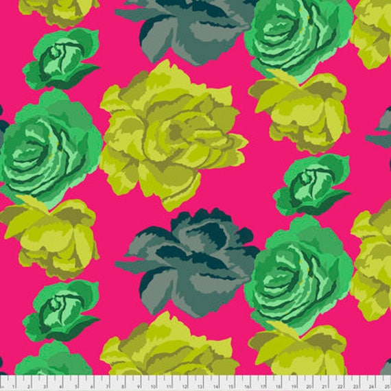 ROSE CLOUDS MAGENTA PWGP164 Kaffe Fassett  1/2 yd - Multiples cut continuously