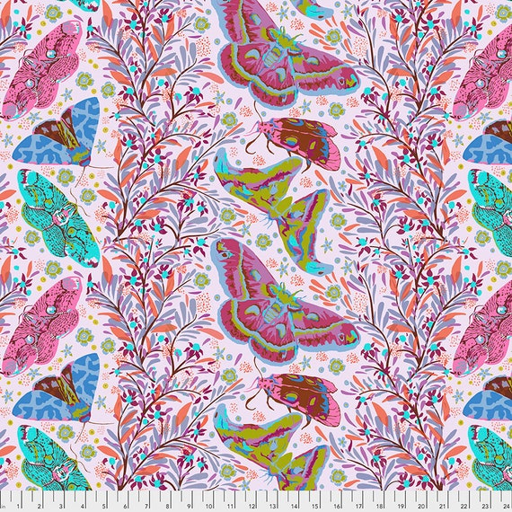 SINISTER GATHERING POWDER Pink Anna Maria Horner - Sold in 1/2 yd increments  - Multiples cut as one length