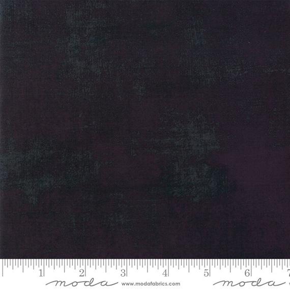 1/2 yd GRUNGE BLACK DRESS Moda Basics 30150 13 - Sold in 1/2 yd increments - Multiple units cut as one length