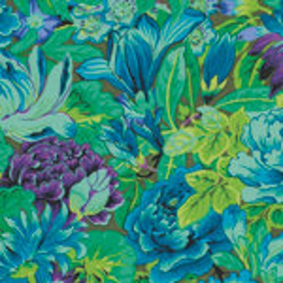 LAVINIA GREEN PWPJ064 Philip Jacobs Kaffe Fassett Collective -  1/2 yd - Multiples cut continuously - Multiple units cut as one length