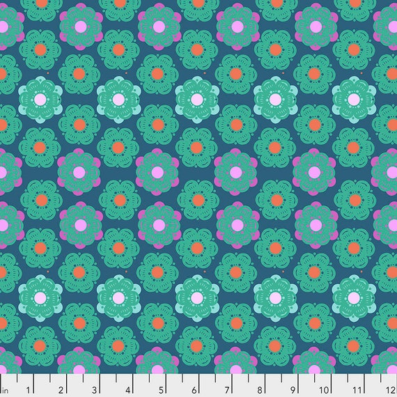 1/2 yd HONEYCOMB DENIM - Anna Maria Horner - Sold in 1/2 yd increments  - Multiples cut as one length