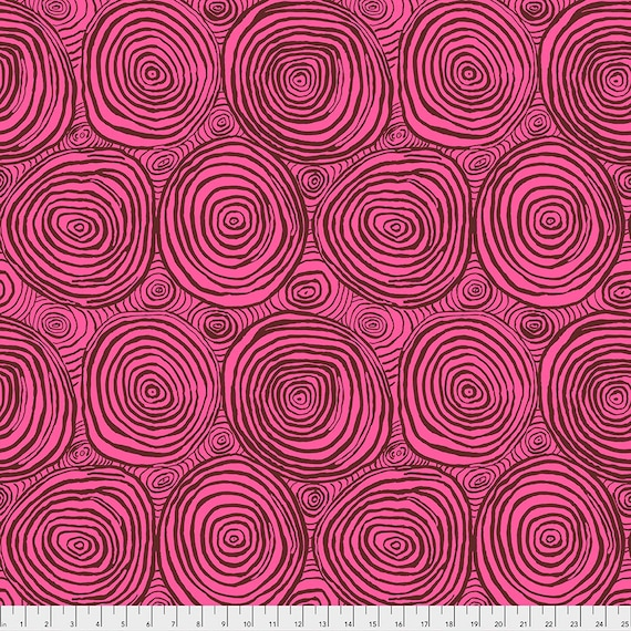 ONION RINGS COCOA pwbm70 Brandon Mably Kaffe Fassett Collective -  1/2 yd - Multiples cut as one length - Multiples cut in one length