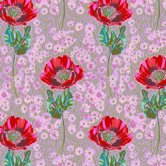 1/2 yd BOSSY in HEATHER Pink - Bright Eyes by Anna Maria Horner PWAH150.HEATHER Sold in 1/2 yd increments Multiples cut in one length