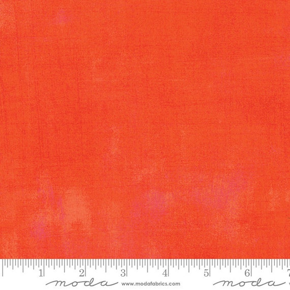 1/2 yd GRUNGE BRIGHT TANGERINE  Moda Basics 30150 263 -  Sold in 1/2 yd increments - Multiple units cut as one length