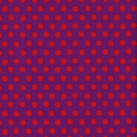 SPOT PURPLE GP70 Kaffe Fassett - Sold in 1/2 yd increments - Multiple units cut as one length