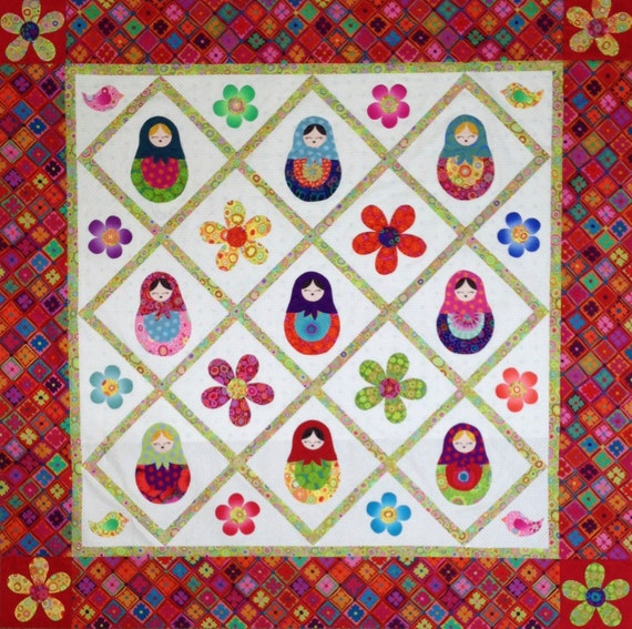 MATRYOSHKA Russian Nesting Doll QUILT KIT  -  Kaffe Fassett  and Philip Jacobs fabrics