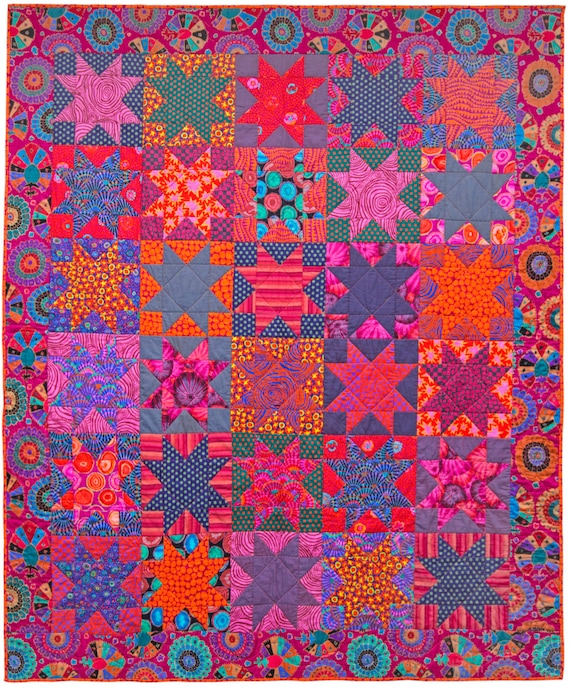 SMOULDERING STARS - Free US Shipping - Quilts In Burano - Kaffe Fassett Collective