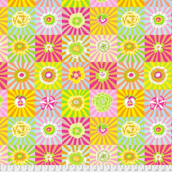 SUNBURST YELLOW  Kaffe Fassett  1/2 yd - Multiples cut continuously
