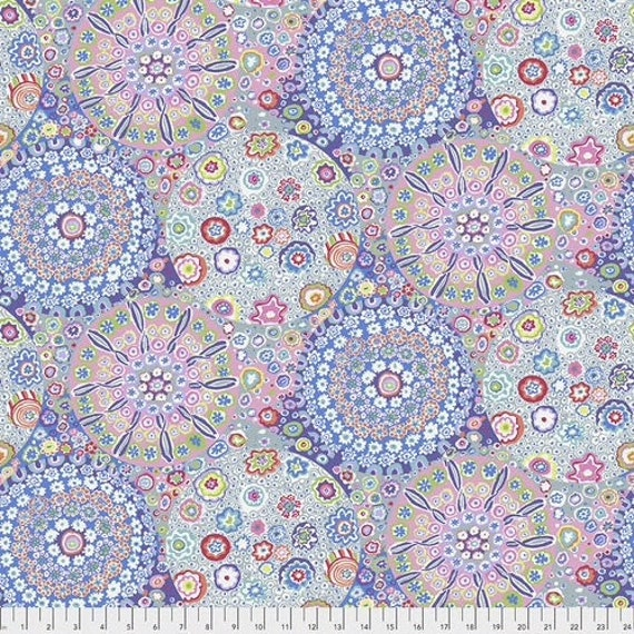 """MILLEFIORE PASTEL  108"""" Wide Backing Fabric - Sateen Finish - Kaffe Fassett  - Sold in 1/2 yd units - Multiples cut as one length"""