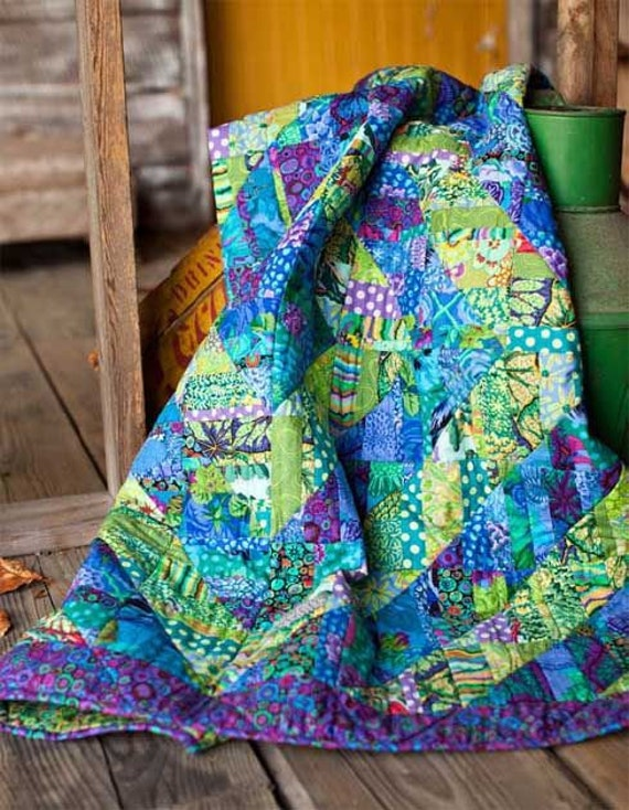 "Kaffe Fassett FRAGMENTED TRIANGLES Quilt Kit  -  47""x47"""
