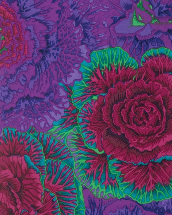 BRASSICA PURPLE Fall 2015 Philip Jacobs for Kaffe Fassett Collective  1/2 yd - Multiples cut as one length  - USA based retailer