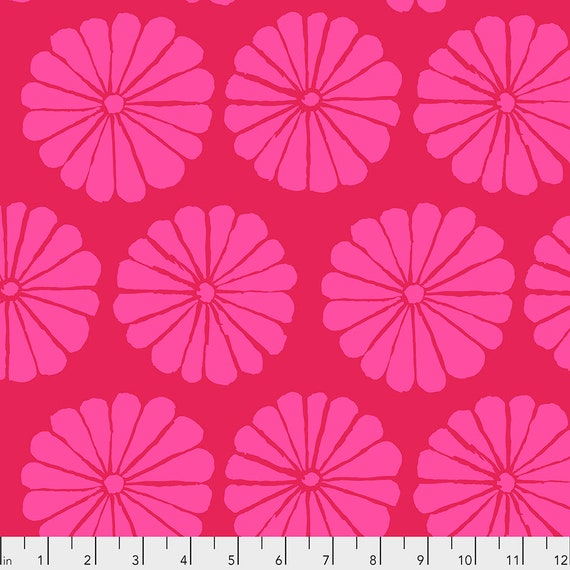 FEBRUARY 2021 Pre-Order - Read Description! DAMASK FLOWER Magenta pwgp183 - Kaffe Fassett Collective  Sold in 1/2 yd increments