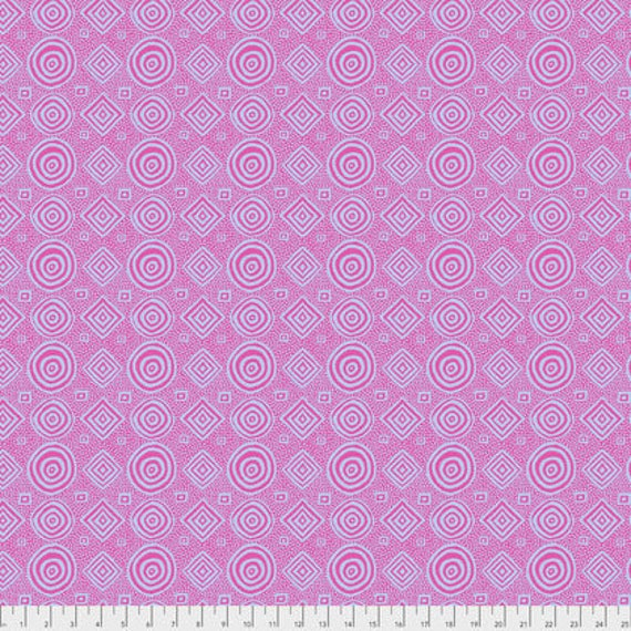 GOOD VIBRATIONS Pink Brandon Mably Kaffe Fassett Collective Sold in 1/2 yd increments - Multiple units cut as one length
