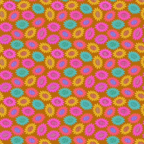 1/2 yd PICKY Gold  - Bright Eyes by Anna Maria Horner pwah159.gold  Sold in 1/2 yd increments - Multiples cut as one length